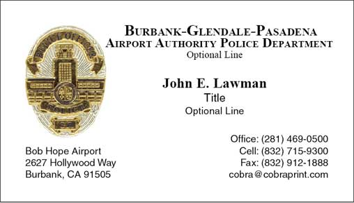 Cobra printing productions bgpaapd business cards sample card reheart Image collections