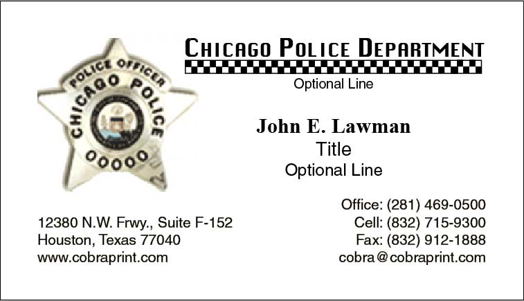 Cobra Printing Productions Cpd Business Cards