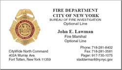 Cobra printing productions fdny business cards sample card reheart Image collections