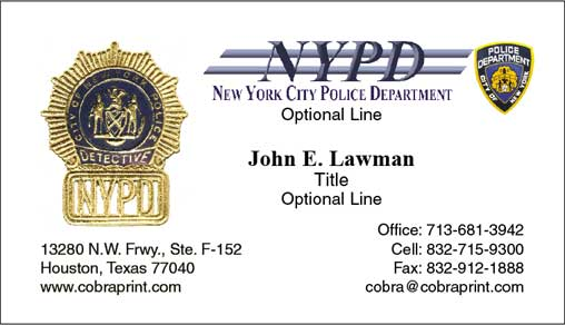 Nypd business cards pictures to pin on pinterest pinsdaddy for Nypd business cards