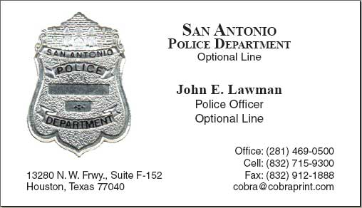 Cobra printing productions san antonio business cards reheart Image collections