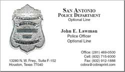 Cobra printing productions san antonio business cards sample card reheart Image collections