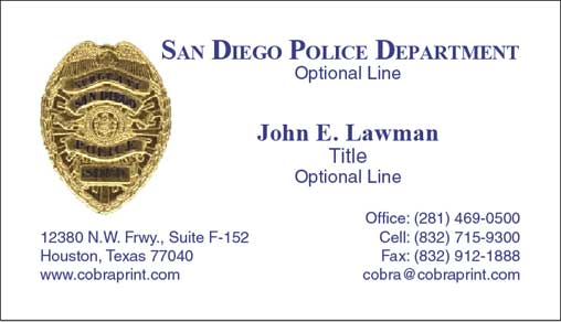 San diego police business cards image collections card design and san diego police business cards flashek Image collections