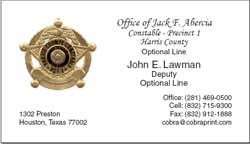 Harris County Constable Precinct 1: Business Cards