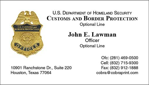 Cobra printing productions cbp ops business cards sample card reheart Gallery