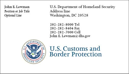 Cobra Printing Productions Cbp Ops Business Cards