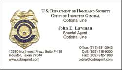 Cobra printing productions dhs oig business cards sample card colourmoves
