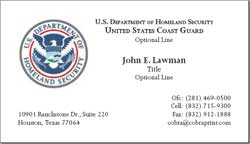 Cobra printing productions uscg business cards sample card colourmoves