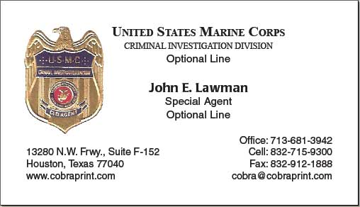 Cobra printing productions usmc business cards colourmoves Image collections