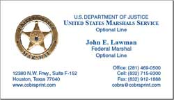 Cobra printing productions usms business cards sample card reheart Images