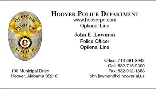 Cobra Printing & Productions: HPD Business Cards